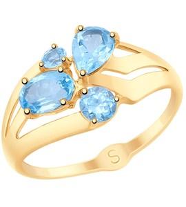 Кольцо из золота с топазами 715075