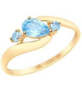 Кольцо из золота с топазами 715080