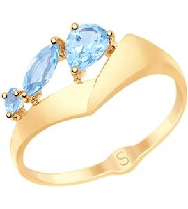 Кольцо из золота с топазами 715117