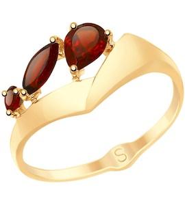 Кольцо из золота с гранатами 715118