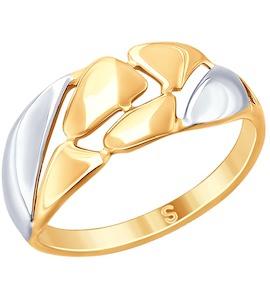 Кольцо из золочёного серебра 93010768