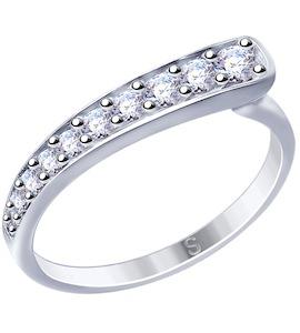 Кольцо из серебра с фианитами 94012524