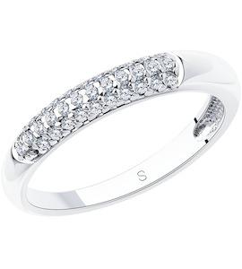 Кольцо из серебра с фианитами 94012664