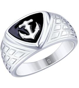Кольцо из серебра с эмалью 94012672