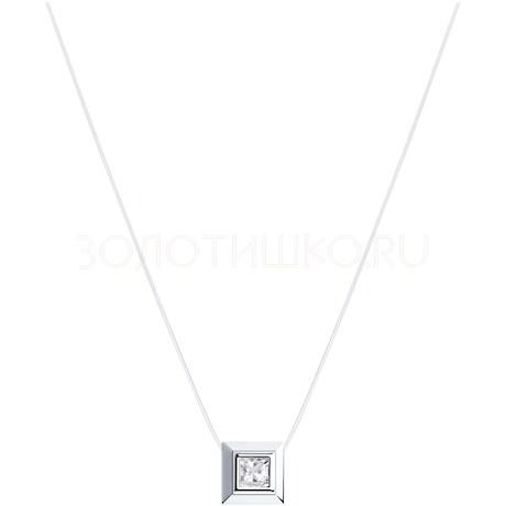 Колье из серебра с фианитом 94070150