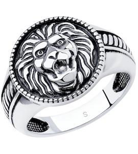 Кольцо из чернёного серебра 95010118