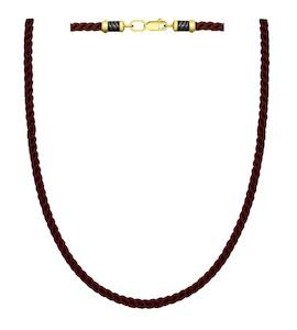 Шнур с замочком из золочёного серебра 95080007