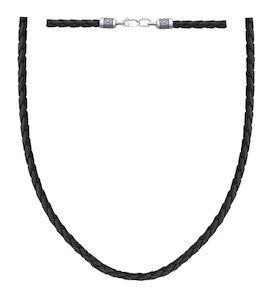 Шнур с замочком из чернёного серебра 95080008