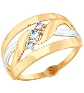 Кольцо из золота с фианитами 017907