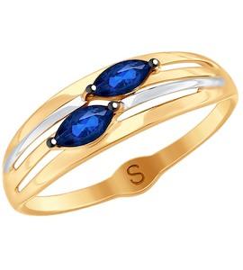 Кольцо из золота с фианитами 018028