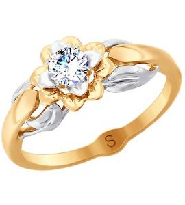 Кольцо из золота с фианитом 018044