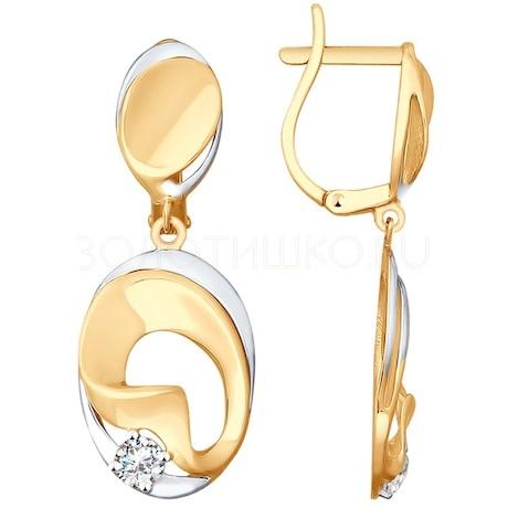 Серьги из золота с фианитами 027987
