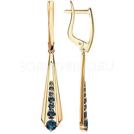 Серьги из золота с фианитами 028143