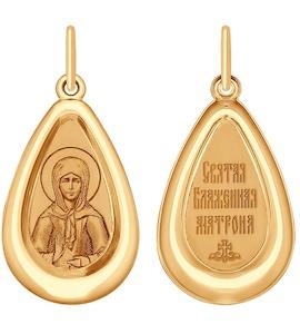 Подвеска из золота с эмалью и лазерной обработкой 104159