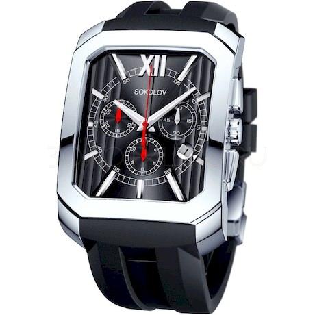 Мужские серебряные часы 144.30.00.000.02.05.3