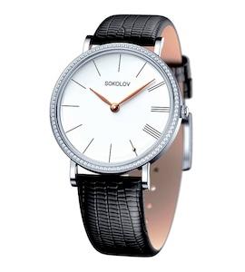 Женские серебряные часы 153.30.00.001.01.01.2