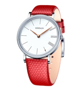 Женские серебряные часы 153.30.00.001.01.04.2