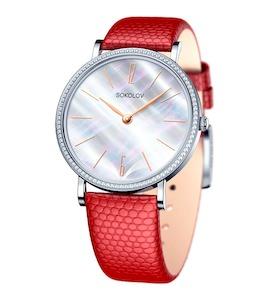 Женские серебряные часы 153.30.00.001.06.04.2