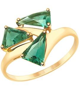 Кольцо из золота с кварцем 715188
