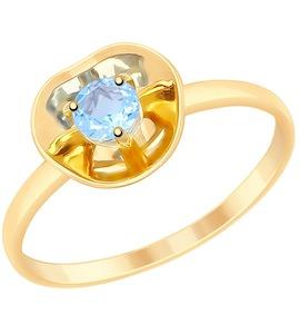 Кольцо из золота с топазом 8-710025