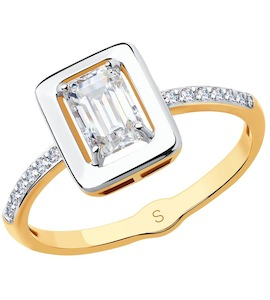 Кольцо из золота со Swarovski Zirconia 81010354