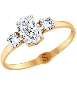 Кольцо из золота со Swarovski Zirconia 81010408