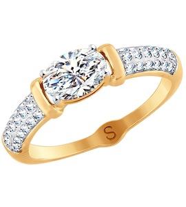 Кольцо из золота со Swarovski Zirconia 81010412