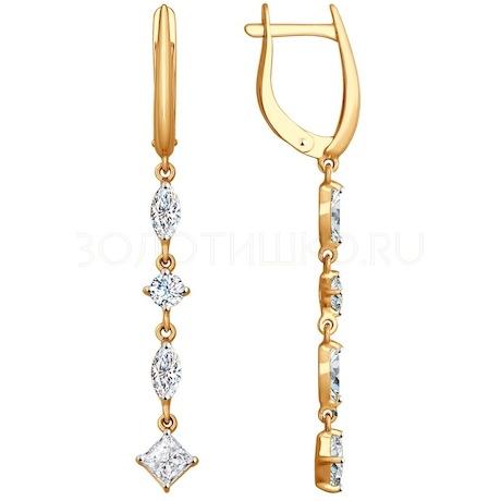 Серьги из золота со Swarovski Zirconia 81020354
