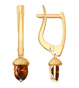 Серьги из золота со Swarovski Zirconia 81020366