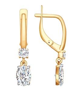 Серьги из золота со Swarovski Zirconia 81020411