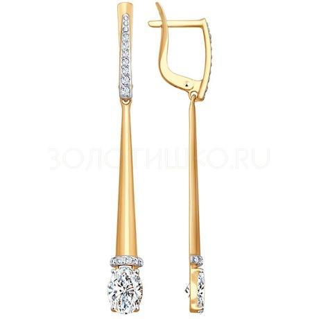 Серьги из золота со Swarovski Zirconia 81020412