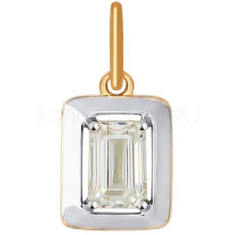Подвеска из золота со Swarovski Zirconia 81030092