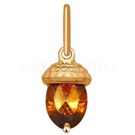 Подвеска из золота со Swarovski Zirconia 81030100