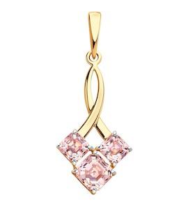 Подвеска из золота с розовыми Swarovski Zirconia 81030132