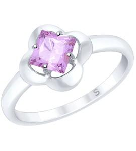Кольцо из серебра с аметистом 92011727