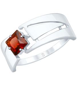 Кольцо из серебра с гранатом 92011828
