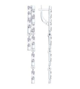 Серьги из серебра с фианитами 94023048