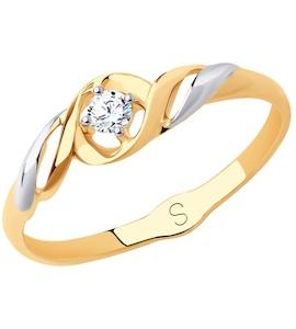 Кольцо из золота с фианитом 018169