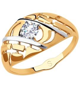 Кольцо из золота с фианитом 018186