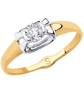 Кольцо из золота с фианитом 018201