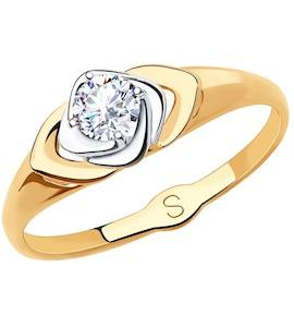 Кольцо из золота с фианитом 018219