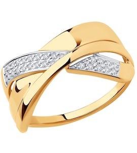 Кольцо из золота с фианитами 018272