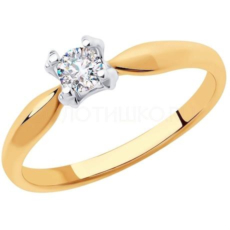 Кольцо из золота с фианитом 018310