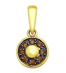 Подвеска из желтого золота с фианитами 035433-2