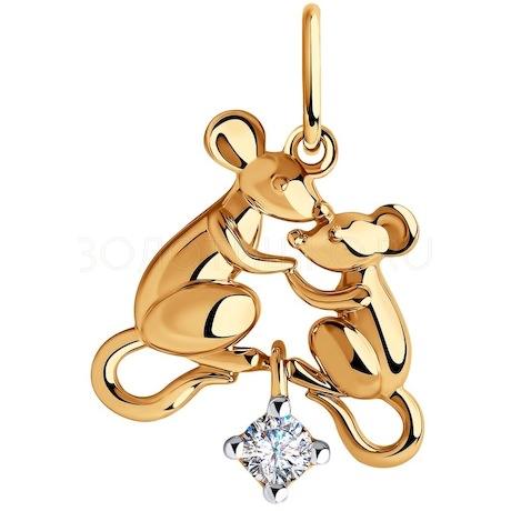 Подвеска из золота с фианитом 035693