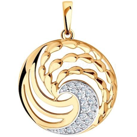 Подвеска из золота с фианитами 035771