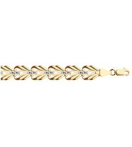 Браслет из золота с алмазной гранью