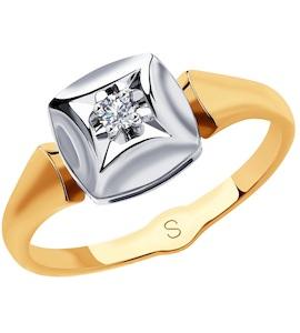 Кольцо из золота с бриллиантом 1011832