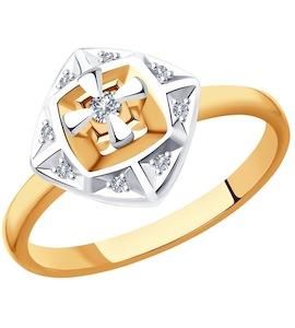 Кольцо из золота с бриллиантами 1011899