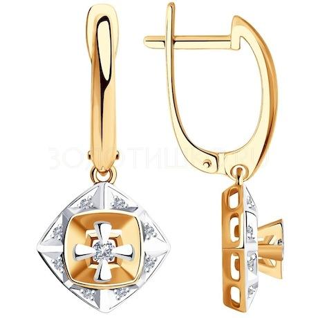 Серьги из золота с бриллиантами 1021422